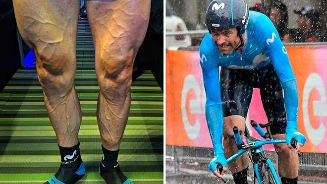 Tay đua Joaquin khoe đường gân với bắp đùi 'khủng' sau chặng đua khốc liệt