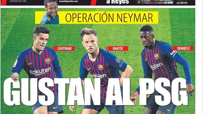 Barca mua lại Neymar, đẩy Coutinho, Dembele và Rakitic tới PSG