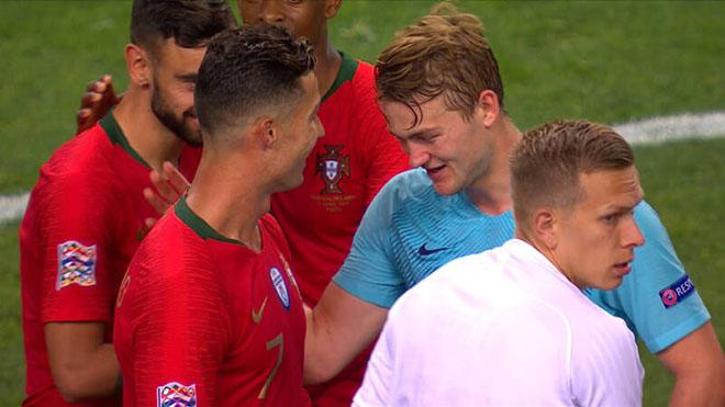 De Ligt SỐC vì Ronaldo công khai rủ rê về Juventus sau chung kết UEFA Nations League