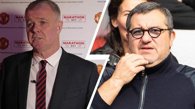 Huyền thoại MU chỉ trích Raiola vì cố gắng đưa Pogba rời khỏi MU