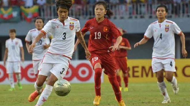 Đội tuyển nữ Việt Nam 4-0 nữ Myanmar: Hải Yến lập cú đúp, Việt Nam toàn thắng 3 trận vòng bảng