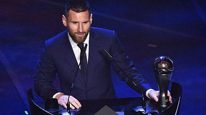 Ket qua The Best 2019, ket qua bau chon The Best 2019, truc tiep bong da, Quả bóng vàng FIFA 2019, Messi, Messi giành The Best 2019, FIFA The Best 2019, bong da
