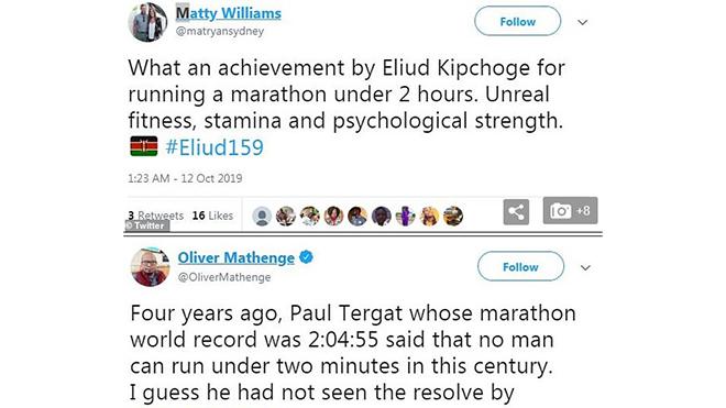 Marathon, Kỷ lục marathon, Eliud Kipchoge, VĐV điền kinh, kỷ lục thế giới về marathon, chạy marathon dưới 2 giờ, lịch sử điền kinh thế giới, chạy marathon nhanh nhất