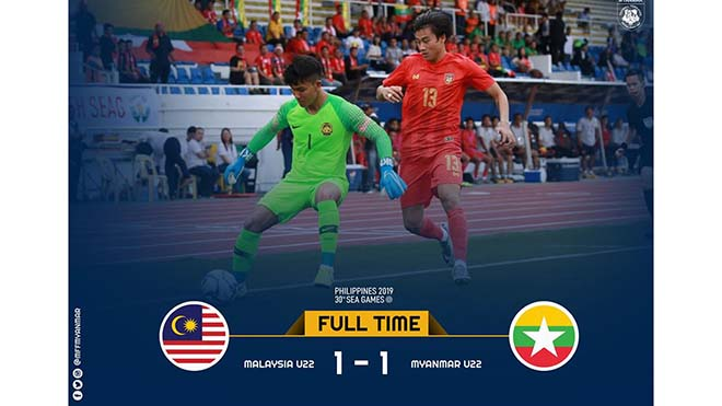 U22 Malaysia 1-1 U22 Myanmar: Giằng co quyết liệt, chia điểm trong tiếc nuối