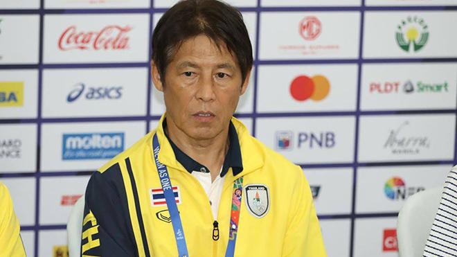 HLV Nishino lại bị báo chí Thái Lan chất vấn sau thất bại tại SEA Games 2019