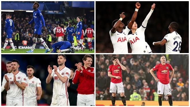 Cuộc đua top 4 Premier League: Tottenham sáng cửa, MU và Chelsea lâm nguy