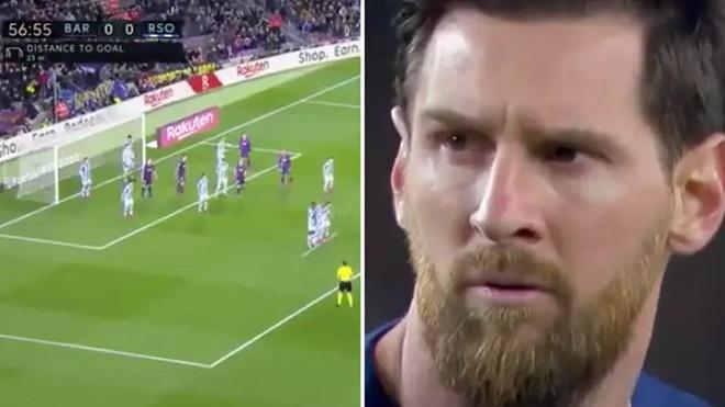 Barca: Phản ứng hài hước của Messi khi bị Sociedad lập kế hoạch ngăn đá phạt