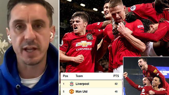 Tuyên bố MU đủ sức tranh ngôi vô địch mùa sau, Neville bị phản pháo mạnh mẽ