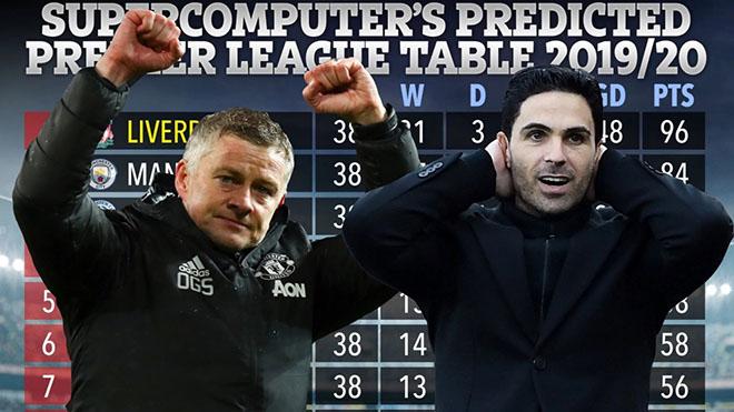 Siêu máy tính dự đoán MU giành vé dự C1, Arsenal rơi tự do trên BXH