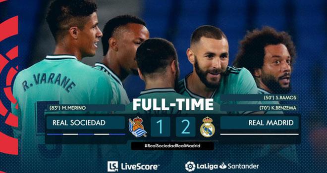Ket qua bong da, bong da, tin tuc bong da, kết quả bóng đá Anh, kết quả bóng đá Tây ban Nha, Everton 0-0 Liverpool, Real Sociedad 1-2 Real Madrid, bảng xếp hạng bóng đá