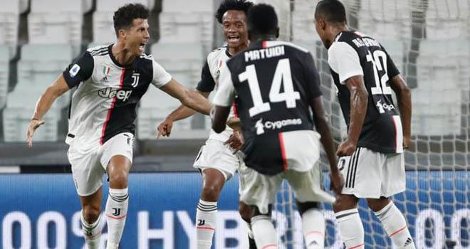 Ket qua bong da. Juventus 2-0 Sampdoria. Kết quả bóng đá Ý. Bảng xếp hạng bóng đá Ý. BXH bóng đá Serie A. Ronaldo. Juve vô địch sớm. Juve vô địch Serie A 9 lần liên tiếp