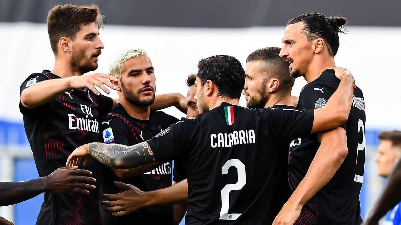 Sampdoria 1-4 AC Milan: Ibra lập cú đúp, Milan chắc suất dự cúp châu Âu