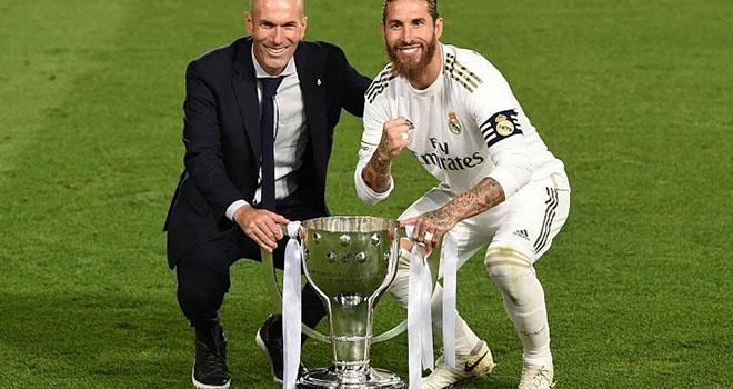 Real Madrid, Real Madrid vô địch La Liga, Bảng xếp hạng La Liga, Zidane nói gì, Real Madrid 2-1 Villarreal, Real Madrid vs Villarreal, kết quả La Liga, Zidane, Ramos