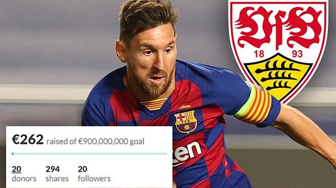 CĐV Stuttgart kêu gọi gây quỹ 900 triệu euro để đón Messi
