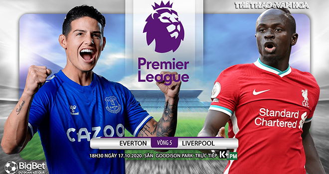 Trực tiếp Everton vs Liverpool, K+PM, Truc tiep bong da, Bóng đá Anh, Kèo nhà cái, trực tiếp Ngoại hạng Anh vòng 5, xem bóng đá trực tuyến Liverpool đấu với Everton