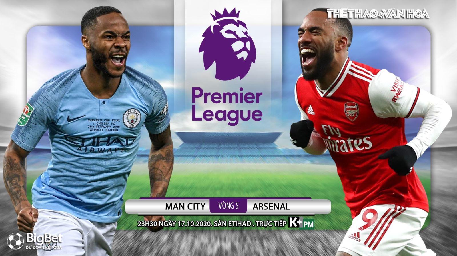 Soi kèo nhà cái Man City vs Arsenal. Ngoại hạng Anh vòng 5. Trực tiếp K+ PM