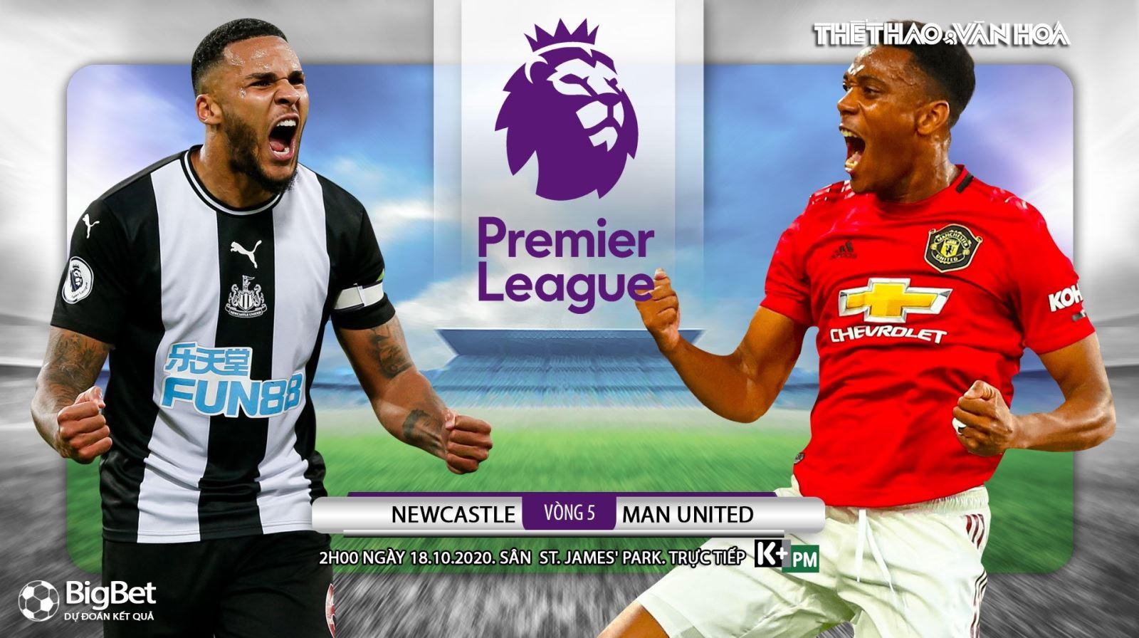 Soi kèo nhà cái Newcastle vs MU. Ngoại hạng Anh vòng 5. Trực tiếp K+ PM