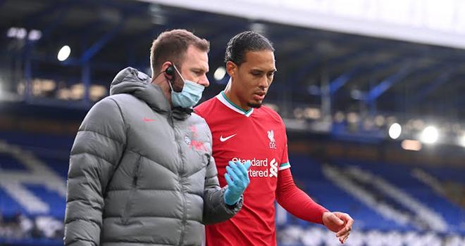 Liverpool, Van Dijk, Everton vs Liverpool, Van Dijk chấn thương, Van Dijk nghỉ hết mùa, kết quả Everton vs Liverpool, kết quả bóng đá Anh, bảng xếp hạng Ngoại hạng Anh
