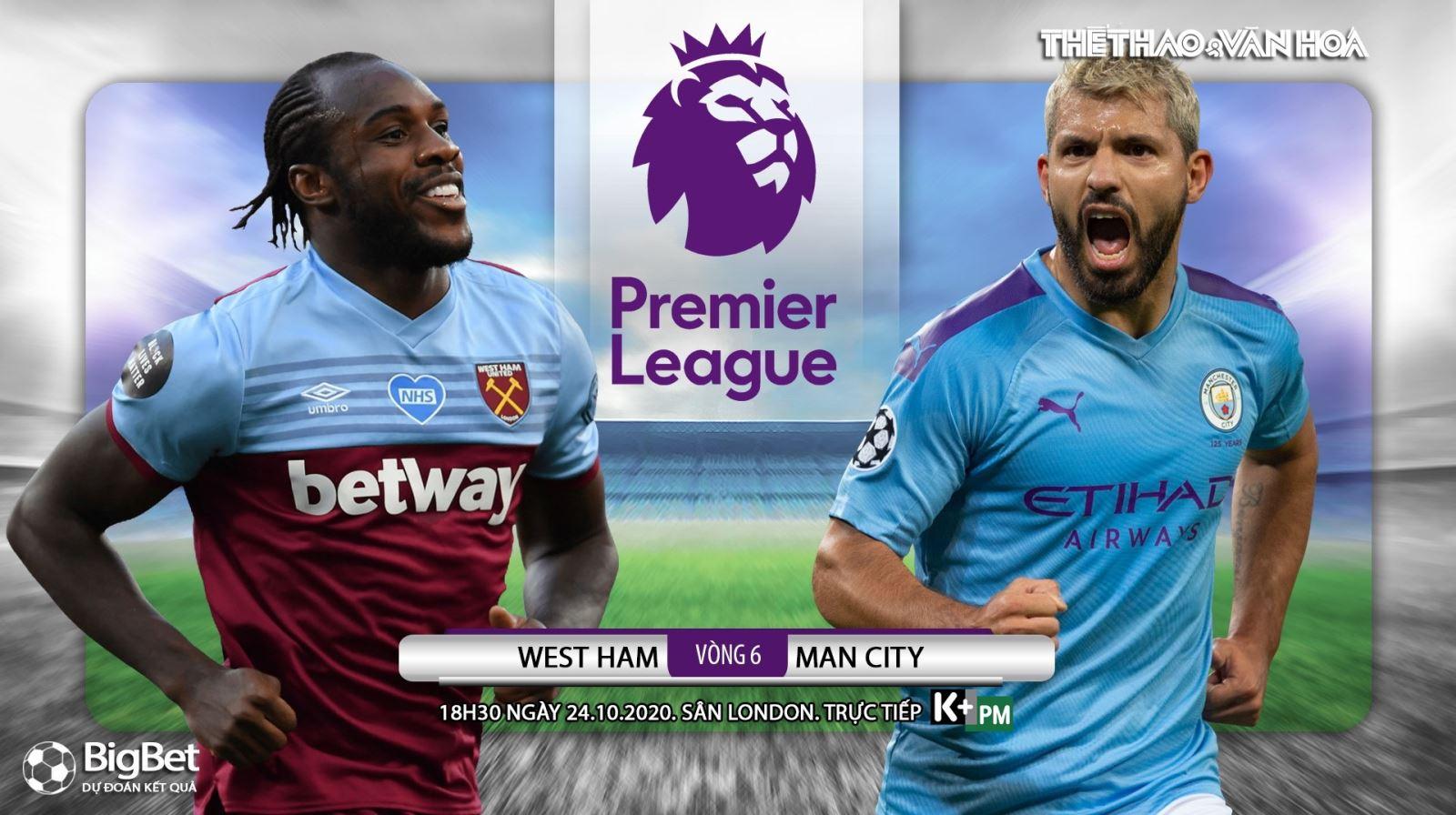 Soi kèo nhà cáiWest Ham vs Man City. Vòng 6 Giải ngoại hạng Anh. Trực tiếp K+ PM