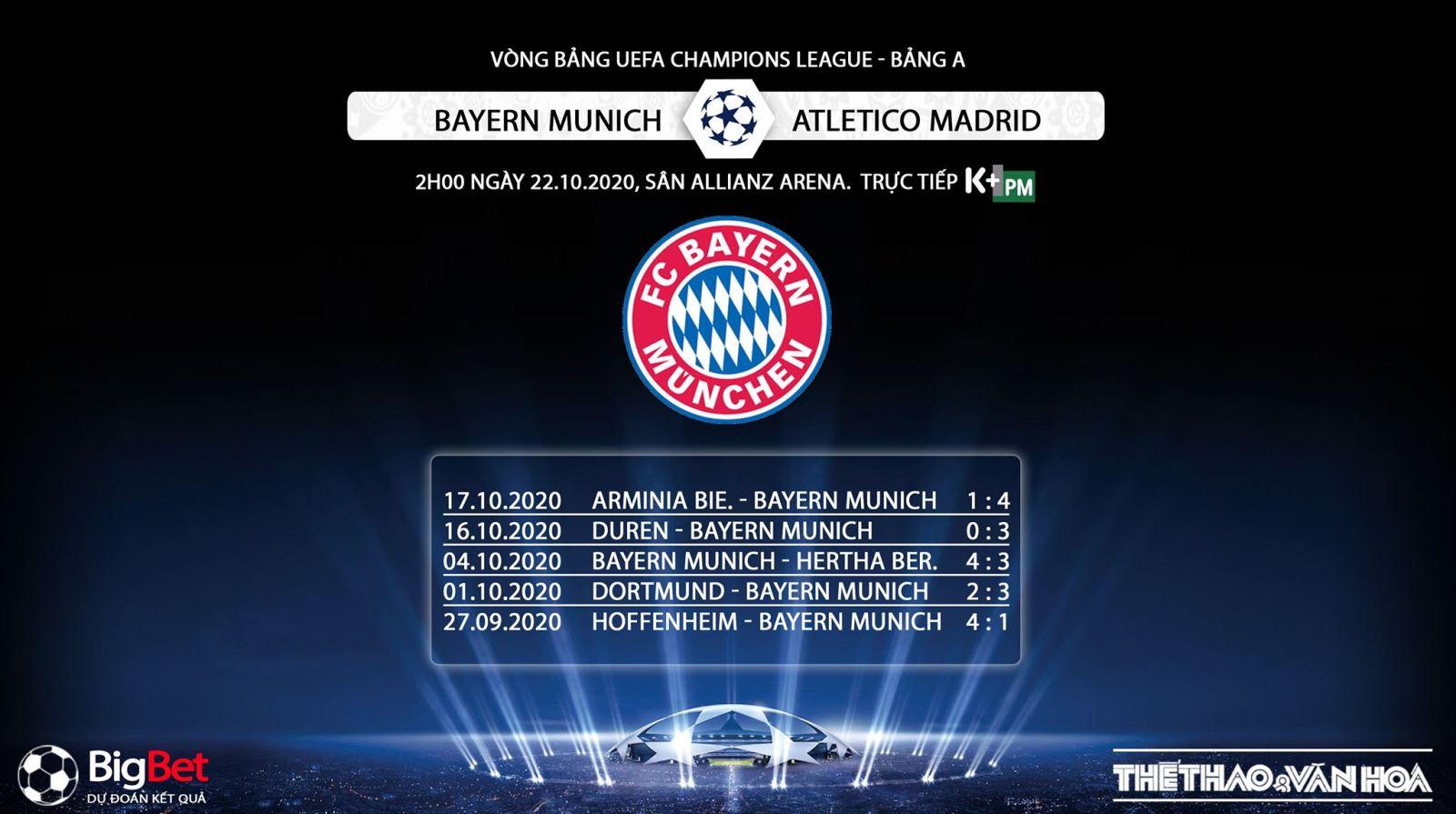 Keo nha cai, kèo nhà cái, Bayern Munich vs Atletico Madrid, Trực tiếp bóng đá Cúp C1 châu Âu, K+PM, trực tiếp bóng đá Bayern Munich đấu với Atletico Madrid, kèo bóng đá