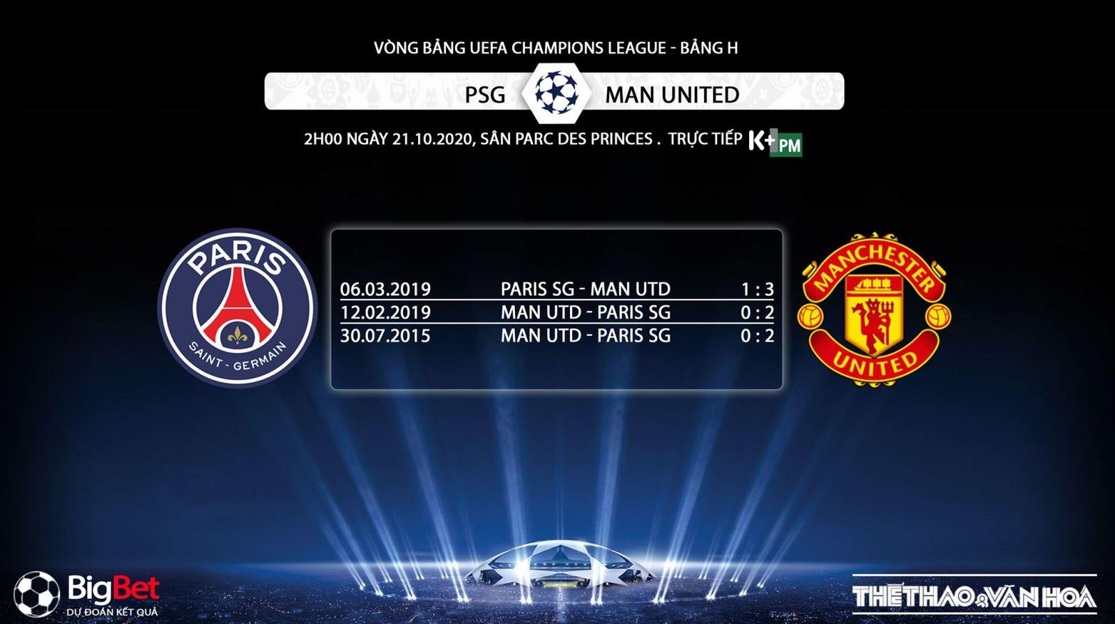 Keo nha cai, PSG vs MU, Vòng 5 Giải ngoại hạng Anh, Trực tiếp K+ PM, Trực tiếp bóng đá, Trực tiếp PSG đấu với MU, Kèo bóng đá Newcastle vs MU, kèo MU, kèo PSG, bong da