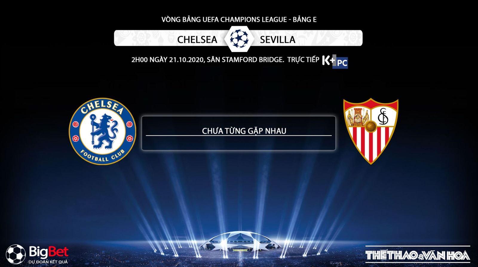 Keo nha cai, Chelsea vs Sevilla, Vòng bảng Cúp C1 châu Âu, Trực tiếp K+PC, Trực tiếp bóng đá, Trực tiếp Chelsea đấu với Sevilla, Kèo bóng đá Chelsea vs Sevilla, bong da