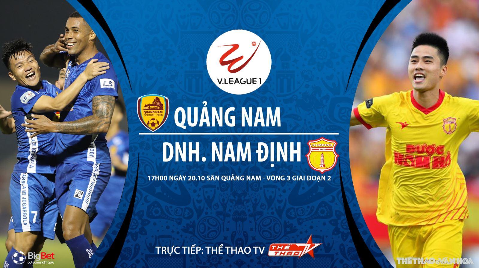 Soi kèo nhà cái. Quảng Nam vs Nam Định. Trực tiếp bóng đá Việt Nam 2020