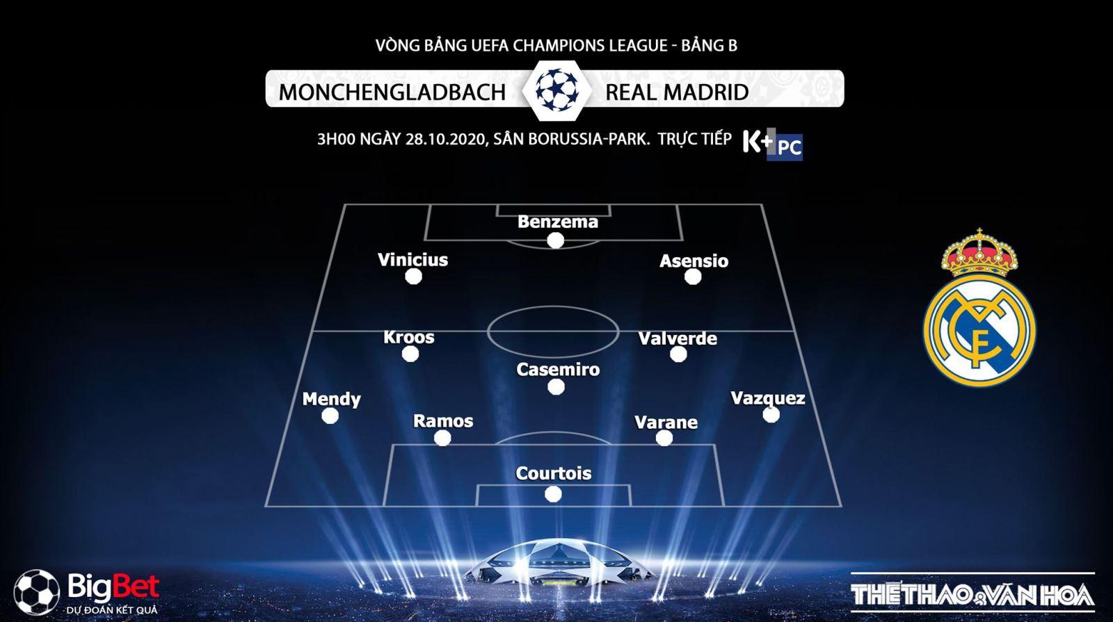 Keo nha cai, kèo nhà cái, Gladbach vs Real Madrid, Trực tiếp bóng đá Cúp C1 châu Âu, K+PM, trực tiếp bóng đá Real Madrid đấu với Gladbach, kèo bóng đá, kèo Real Madrid