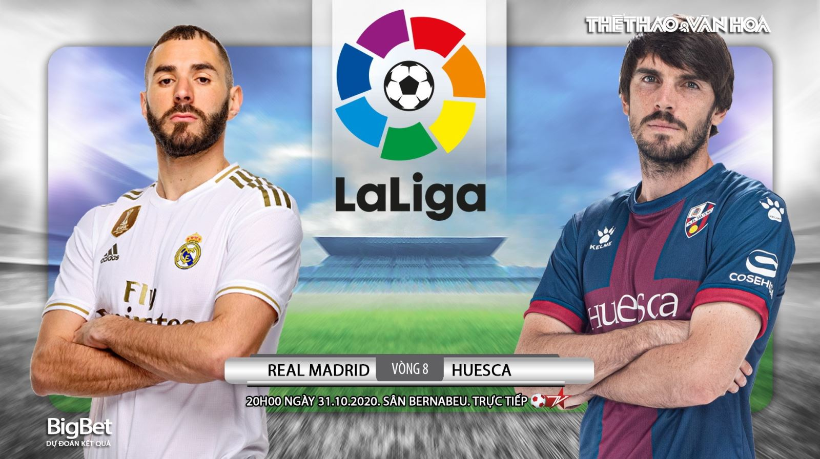 Soi kèo nhà cái Real Madrid vs Huesca. Vòng 8 La Liga. Trực tiếp BĐTV