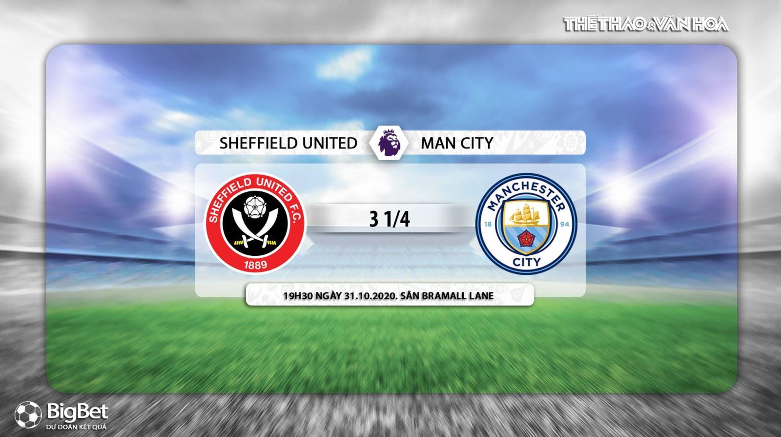 Keo nha cai, kèo nhà cái, Sheffield Utd vs Man City, K+PM, Truc tiep bong da, Ngoại hạng Anh, soi kèo bóng đá, trực tiếp Sheffield Utd đấu với Man City, kèo Man City