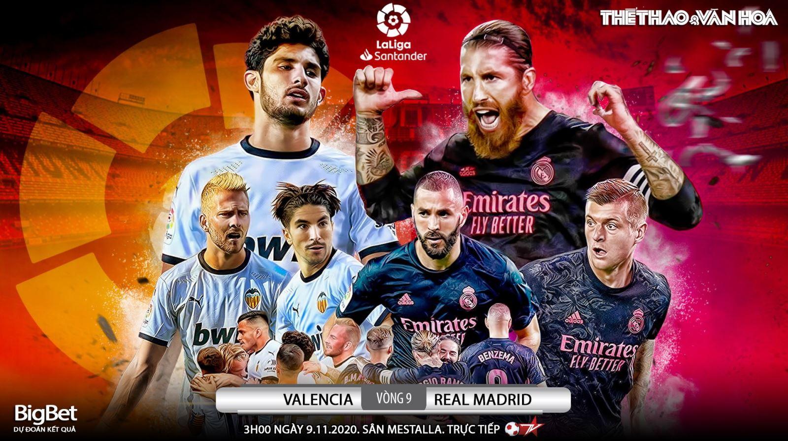 Soi kèo nhà cáiValencia vs Real Madrid. Vòng 9 La Liga. Trực tiếp Bóng đá TV