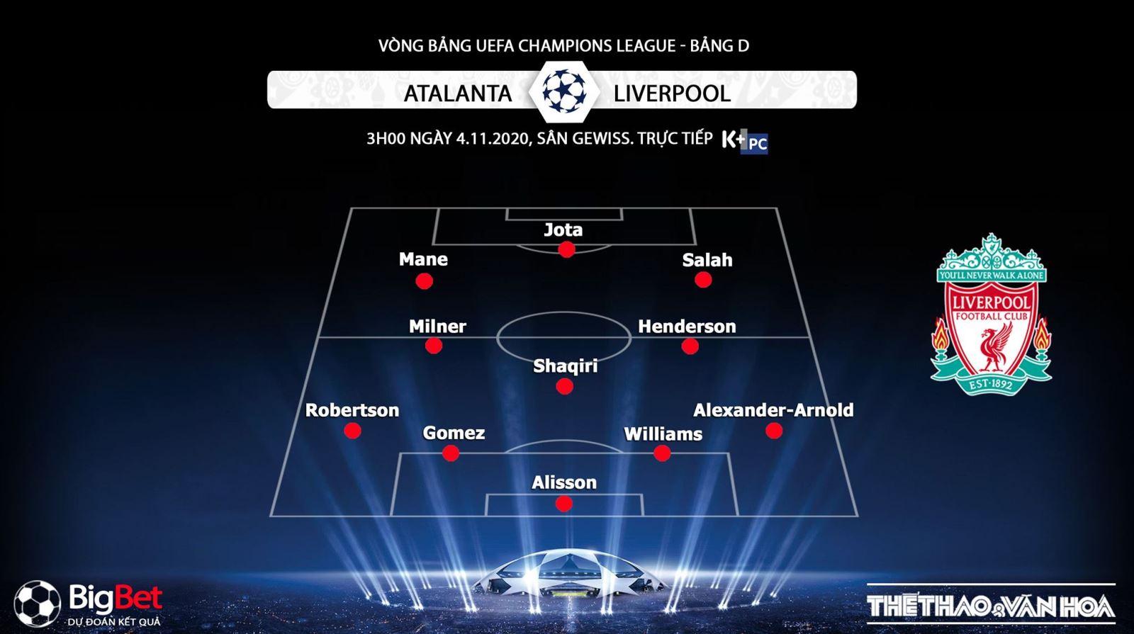 Keo nha cai, kèo nhà cái, Atalanta vs Liverpool, Truc tiep bong da, K+PC, Cúp C1, trực tiếp Atalanta vs Liverpool, trực tiếp bóng đá, xem bóng đá trực tuyến Liverpool