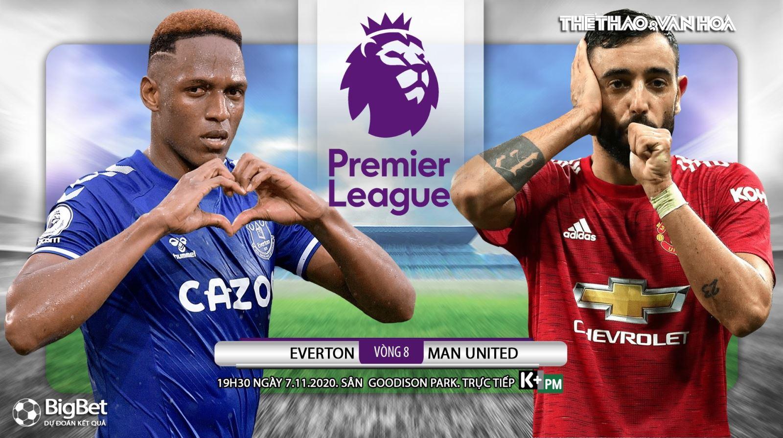 Soi kèo nhà cái Everton vs MU. Vòng 8 giải Ngoại hạng Anh. Trực tiếp K+ PM