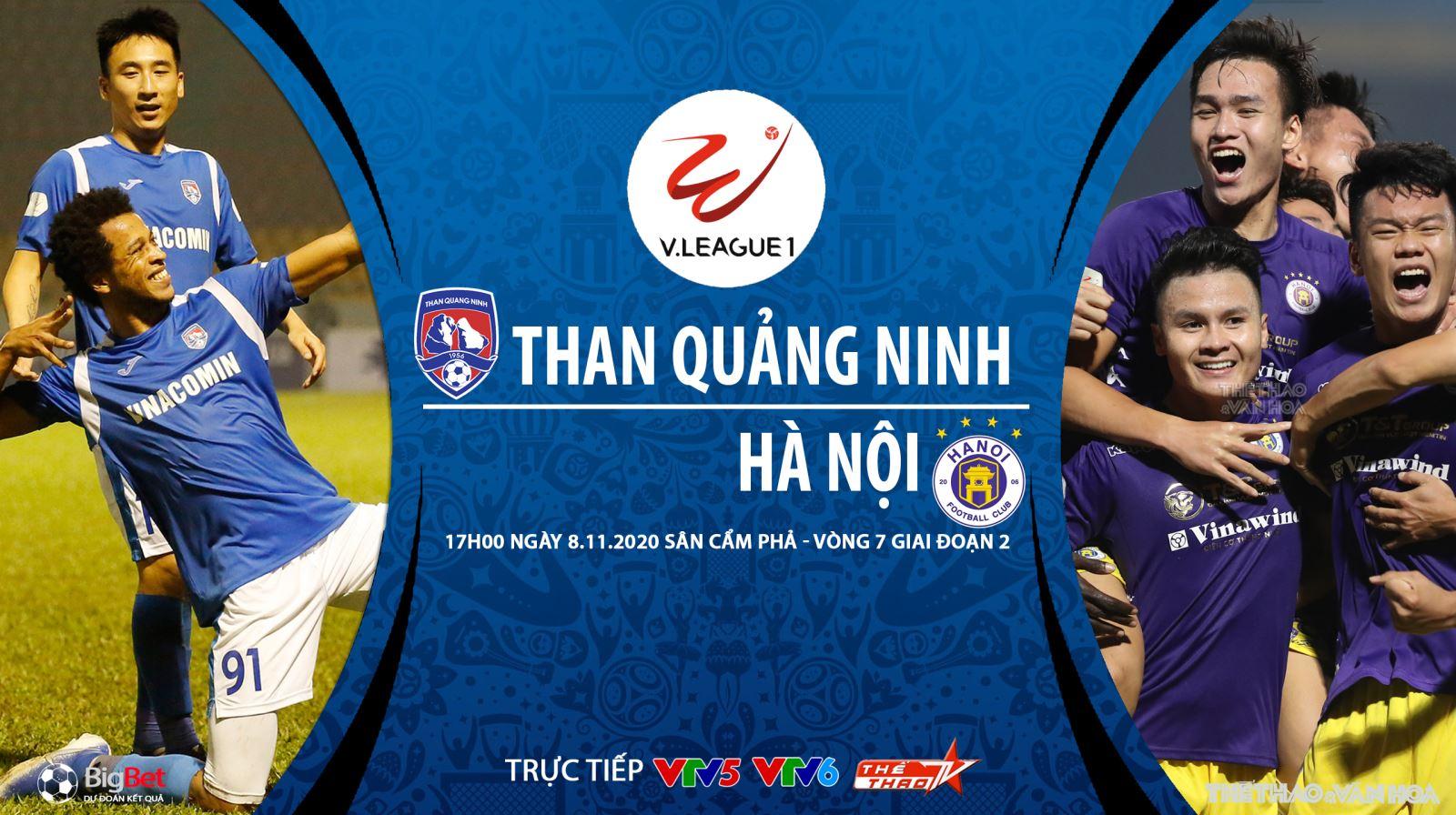 Trực tiếp Than Quảng Ninh vs Hà Nội. VTV6. VTV5. BĐTV. Truc tiep bong da