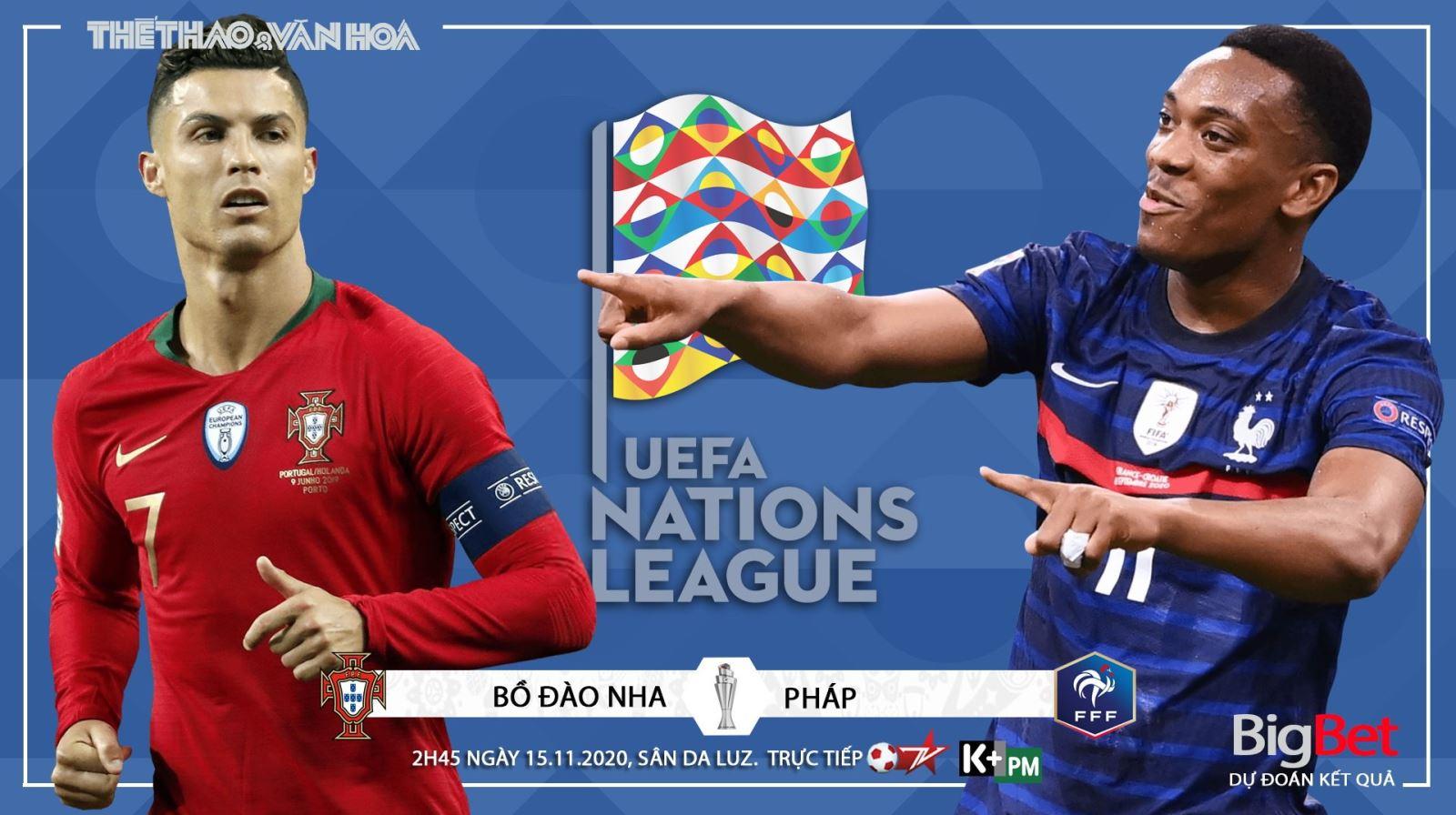 Soi kèo nhà cáiBồ Đào Nha vs Pháp. Vòng bảng UEFA Nations League. Trực tiếp K+ PM, BĐTV