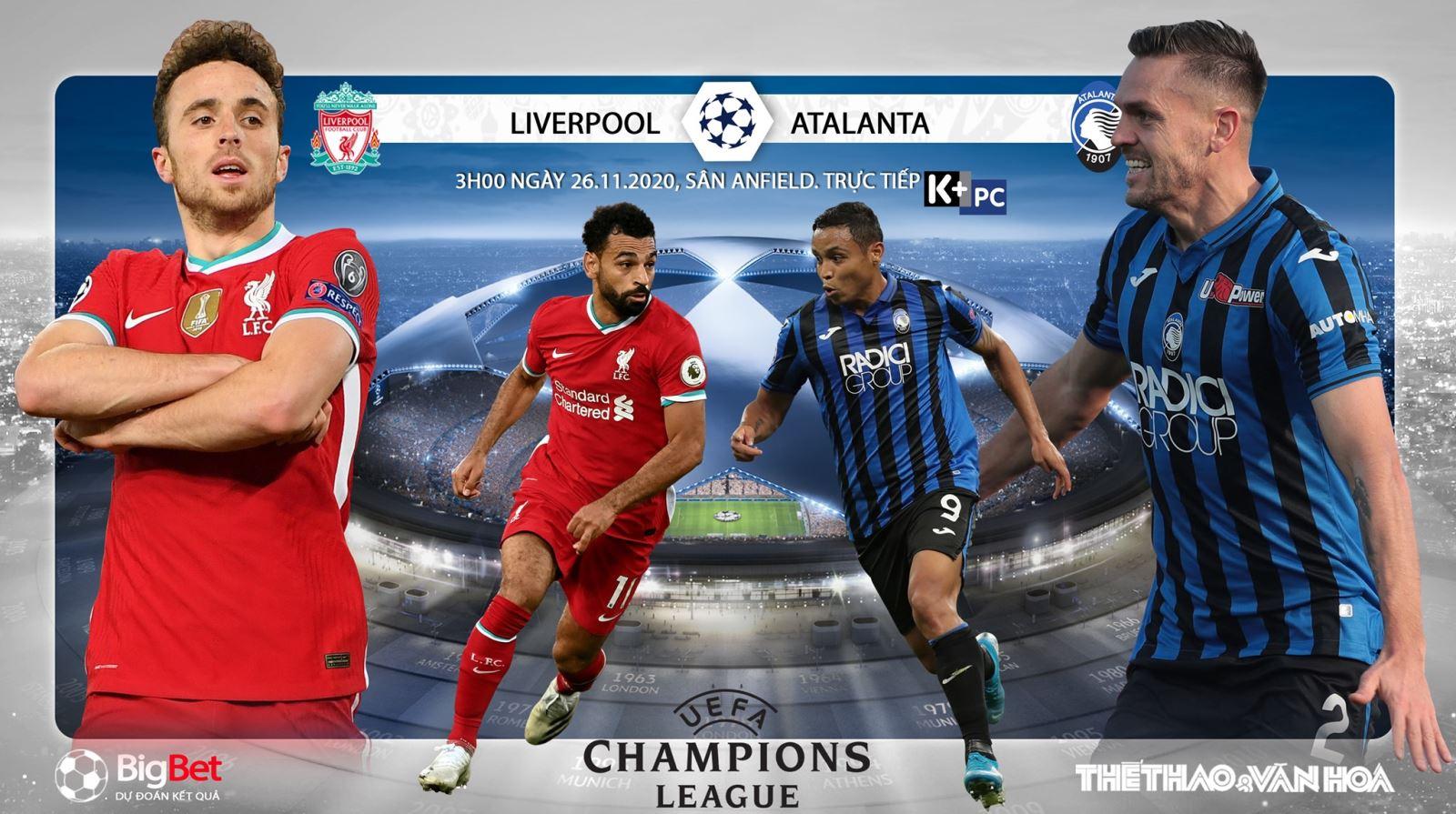 Soi kèo nhà cáiLiverpool vs Atalanta. Vòng bảng Champions League