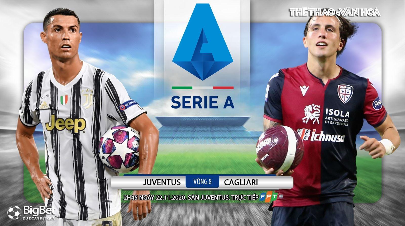 Soi kèo nhà cáiJuventus vs Cagliari. Vòng 8 Serie A. Trực tiếp Truyền hình FPT