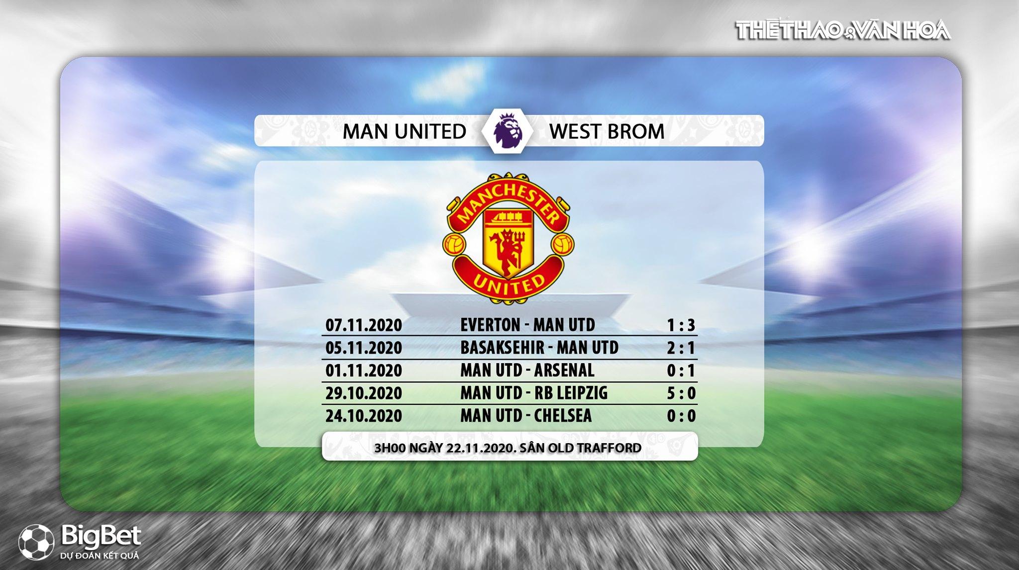 Keo nha cai, Kèo nhà cái, MU vs West Brom, Trực tiếp bóng đá, Ngoại hạng Anh, K+, Xem K+PM, Vòng 9 Giải ngoại hạng Anh, Trực tiếp K+PM,Trực tiếp bóng đá MU