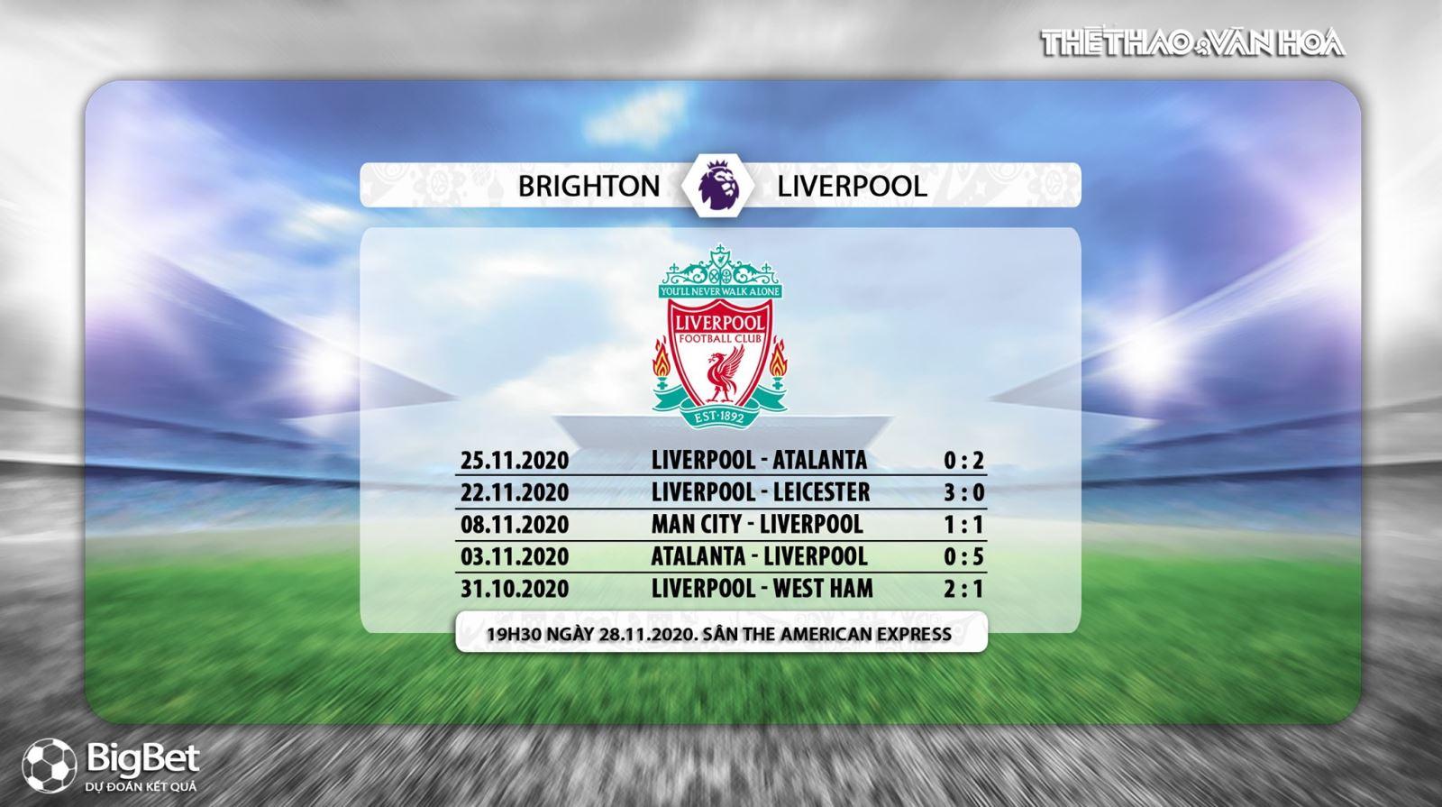 Keo nha cai, kèo nhà cái, Brighton vs Liverpool, truc tiep bong da, ngoai hang Anh vòng 10, kèo bóng đá, trực tiếp Brighton đấu với Liverpool, trực tiếp bóng đá Anh