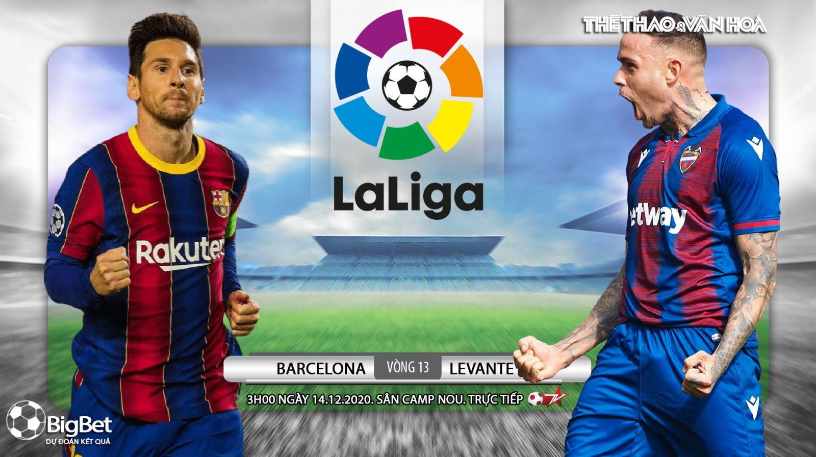 Soi kèo nhà cáiBarcelona vs Levante. Trực tiếp bóng đá vòng 13 La Liga