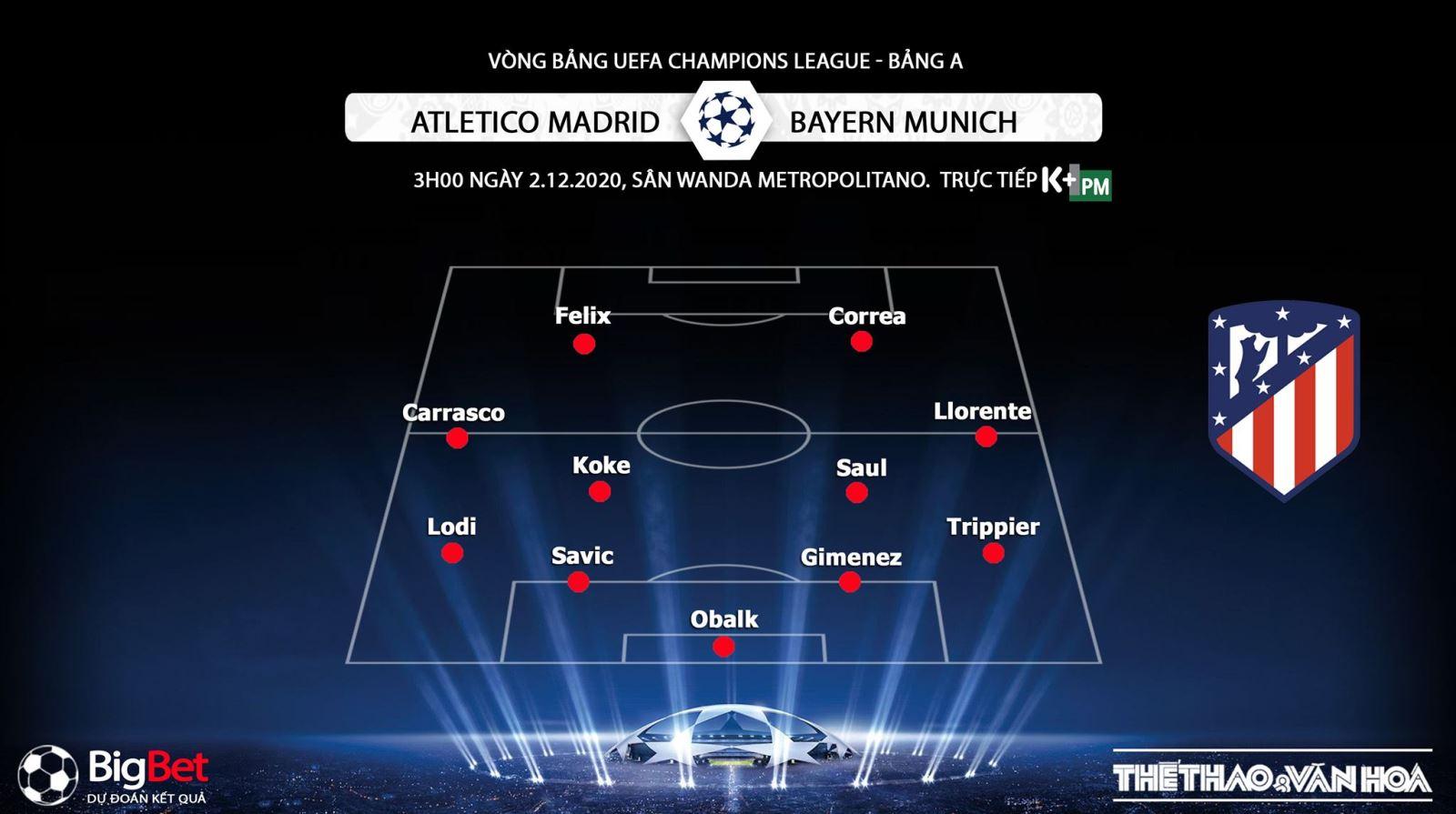Keo nha cai, Kèo nhà cái, Atletico Madrid vs Bayern Munich, Trực tiếp bóng đá, Cúp C1 châu Âu, trực tiếp Atletico Madrid đấu với Bayern Munich, trực tiếp cúp C1