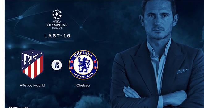 Kết quả bốc thăm vòng 1/8 Cúp C1, Bốc thăm Champions League, Chelsea vs Atletico, Chelsea đấu với Atletico Madrid, Cúp C1, Champions League. Simeone, Diego Costa. Lampard