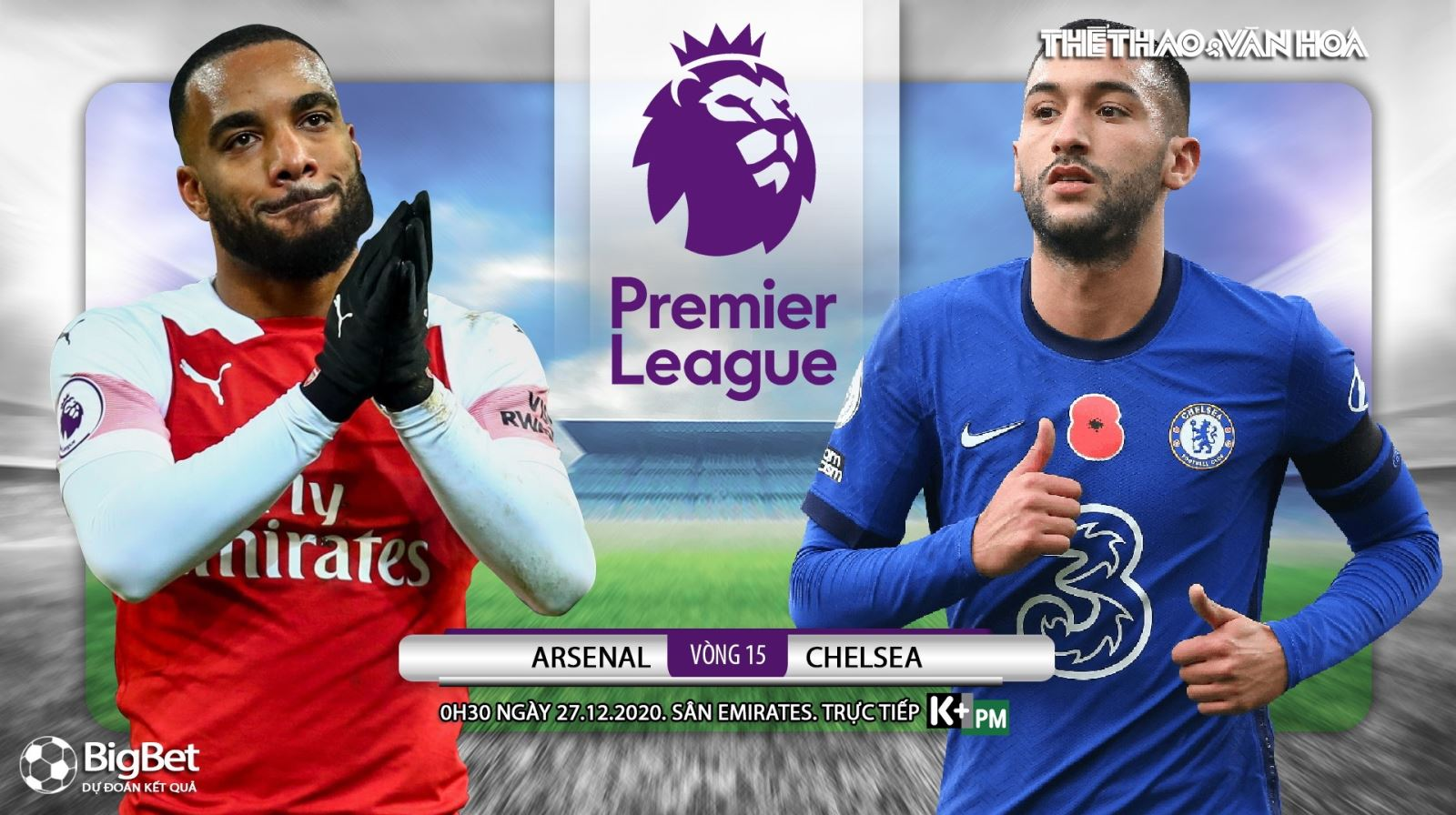 Soi kèo nhà cáiArsenal vs Chelsea. Trực tiếp bóng đá vòng 15 Ngoại hạng Anh