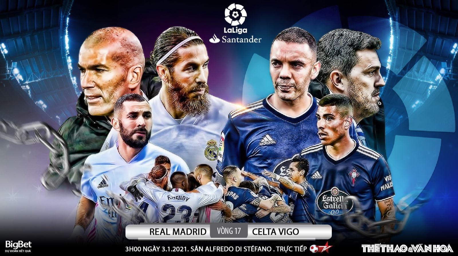Soi kèo nhà cáiReal Madrid vs Celta Vigo. Vòng 17 La Liga Tây Ban Nha
