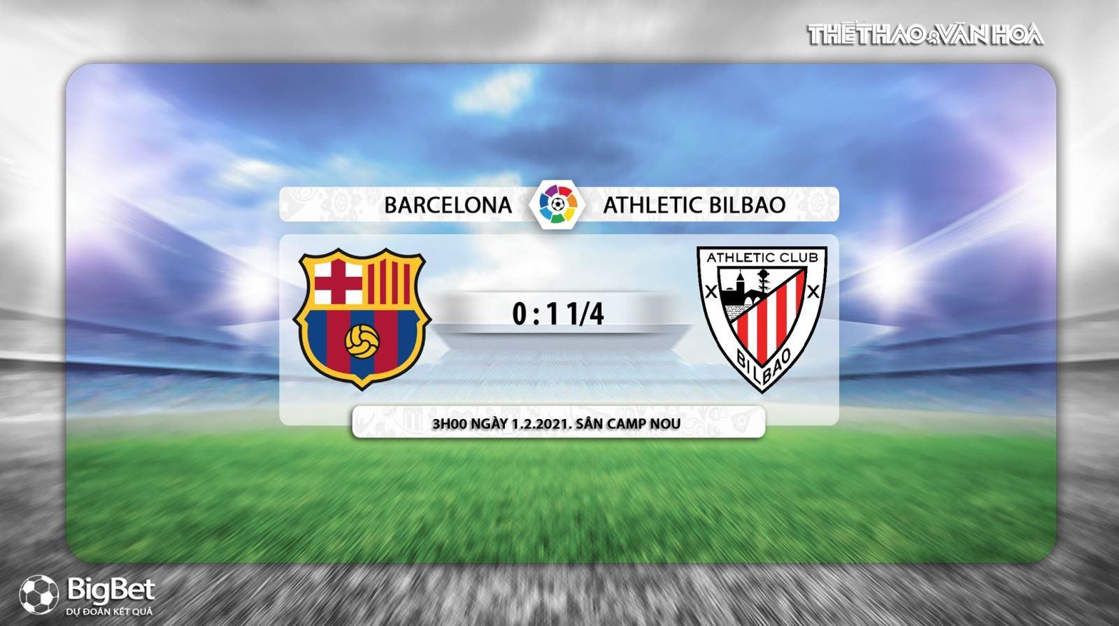 Keo nha cai, Kèo nhà cái, Barcelona vs Bilbao, Trực tiếp bóng đá Tây Ban Nha hôm nay, BĐTV, soi kèo bóng đá Barcelona vs Bilbao, trực tiếp bóng đá La Liga, kèo Barcelona