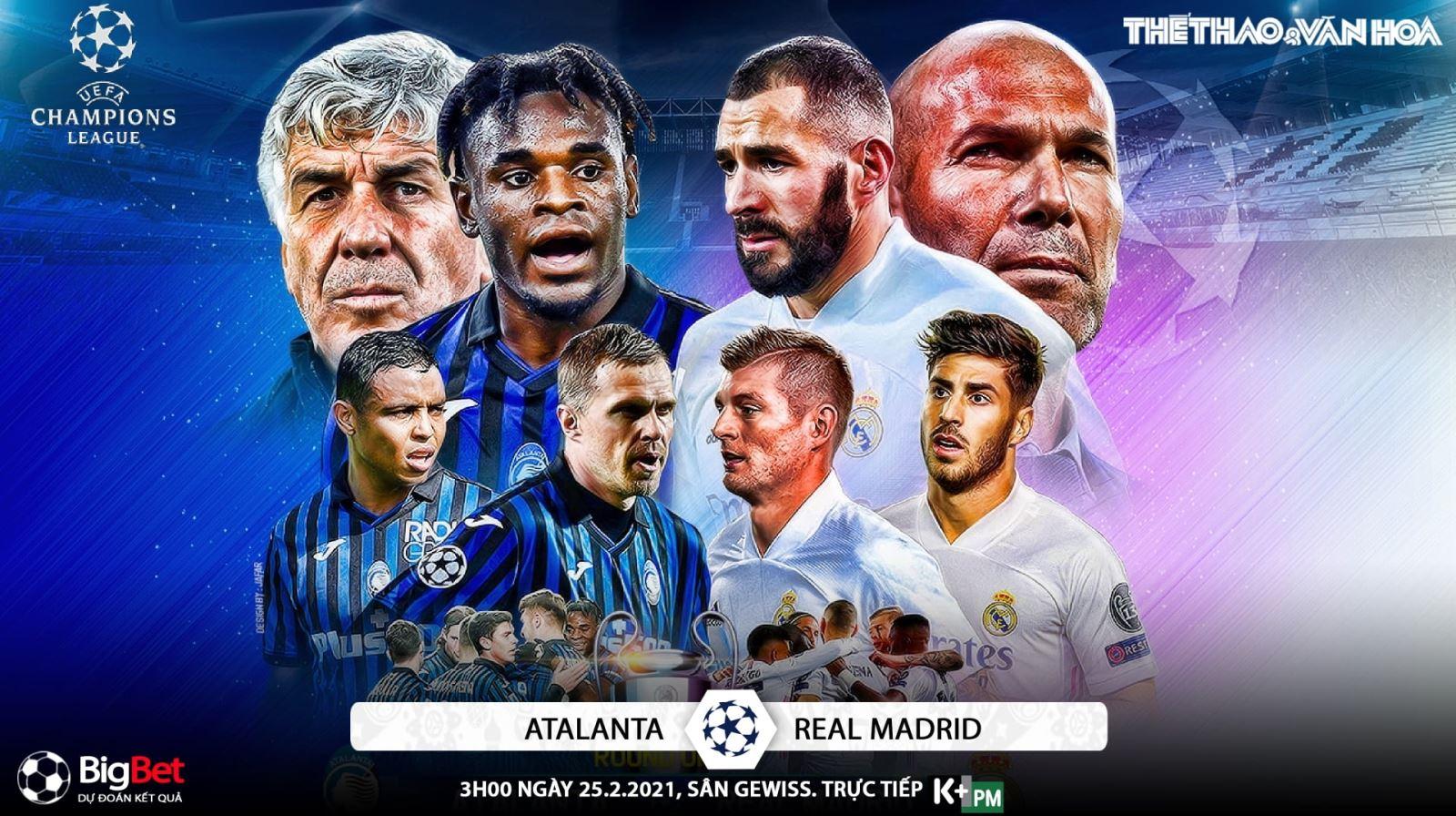 Soi kèo nhà cáiAtalanta vs Real Madrid. Lượt đi vòng 1/8 Cúp C1 châu Âu
