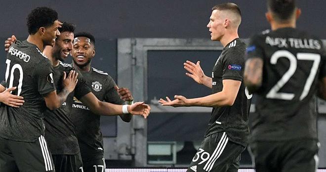 Kết quảCúp C2: Real Sociedad 0-4 MU. Kết quả lượt đi vòng 1/16 Europa League