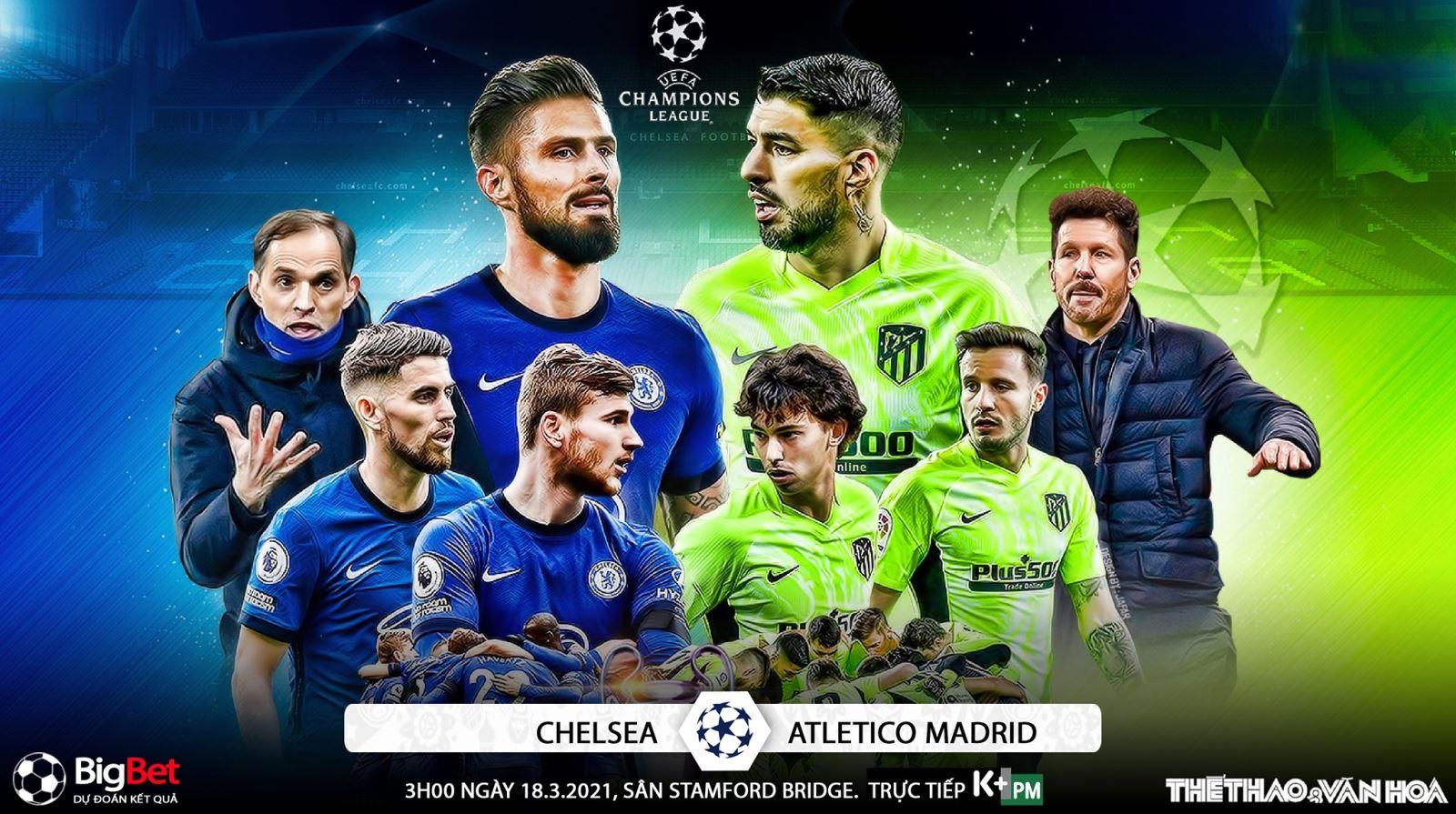 Soi kèo nhà cáiChelsea vs Atletico Madrid. Lượt về vòng 1/8 Cúp C1