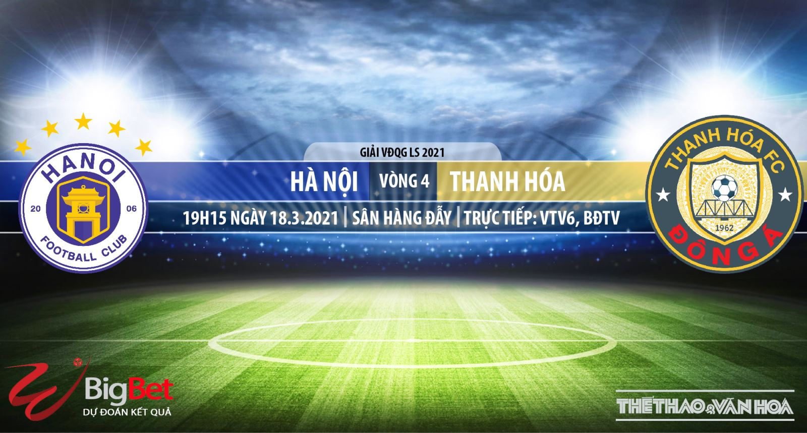 Soi kèo nhà cái Hà Nội vs Thanh Hóa. VTV6 trực tiếp bóng đá Việt Nam hôm nay