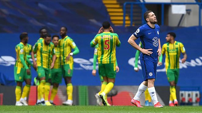 Chelsea 2–5 West Brom: The Blues bị cắt mạch bất bại, top 4 lung lay